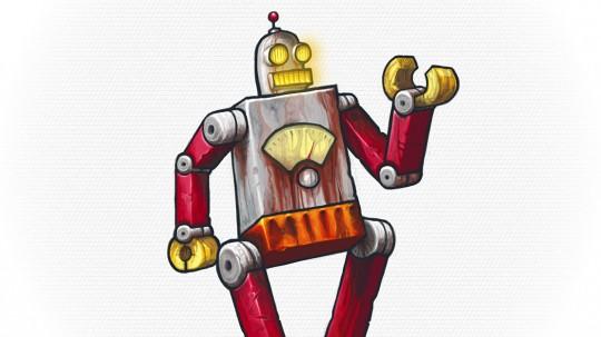 I love drawing rusty robots.